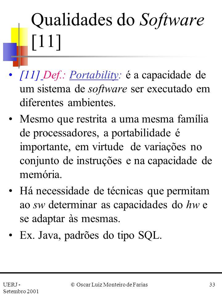 Qualidades do Software [11]